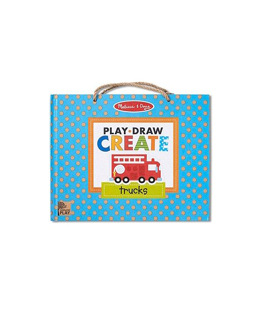 Melissa and Doug Melissa Doug Natural Play: Play, Draw, Create Reusable Drawing Magnet Kit – Trucks 45 Magnets, 5 Dry-Erase Markers