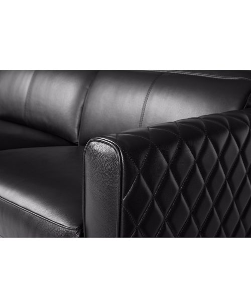 Jaconna 3 Pc. Leather Sofa with 3 Power Recliners, Created for Macy's
