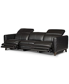 Jaconna 3-Pc. Leather Sofa with 2 Power Recliners, Created for Macy's