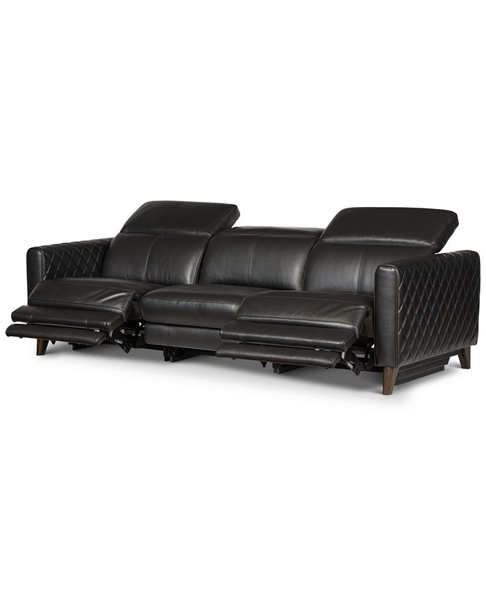 Furniture - Jaconna 3-Pc. Leather Sofa with 2 Power Recliners