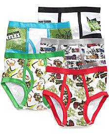 Ninja Turtles 5-Pk. Cotton Briefs, Little Boys & Big Boys