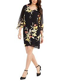 Printed 3/4-Sleeve Shift Dress, Created for Macy's