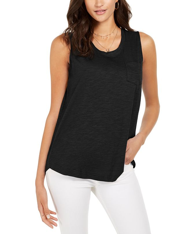 Style & Co One-Pocket Tank Top, Created for Macy's
