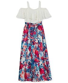 Big Girls Ruffled Floral Dress