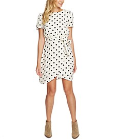 Polka-Dot Wrap-Front Dress