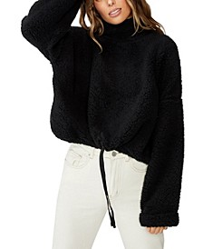 Funnel Neck Teddy Pullover