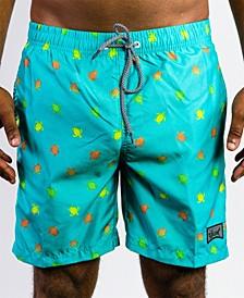 Men's Beach Swim Pocketed Swim Trunks
