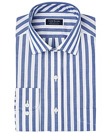 Men's Classic/Regular-Fit Performance Stretch Bold Stripe Dress Shirt, Created for Macy's