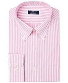 Men's Classic/Regular-Fit Performance Stretch Candy Stripe Dress Shirt, Created for Macy's