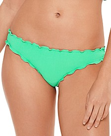 Juniors' Pucker Up Ruffled Hipster Bikini Bottoms, Created for Macy's
