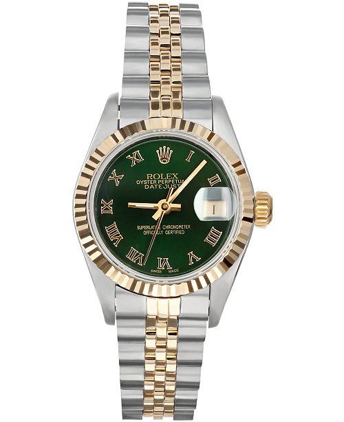 Pre-Owned Rolex Women's Swiss Automatic Datejust Jubilee 18k Gold & Stainless Steel Bracelet Watch 26mm