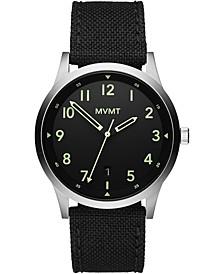 Men's Field Black Nylon Strap Watch 41mm