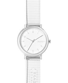 Women's Aaren Transparent Clear Polyurethane Strap Watch 36mm