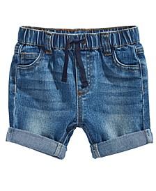 Baby Boys Cuffed Denim Shorts, Created for Macy's