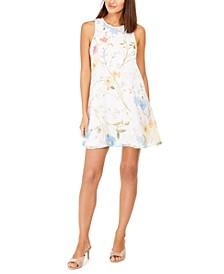 Light Floral Trapeze Dress