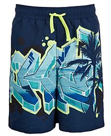Big Boys Graffiti Swim Trunks, Created for Macy's