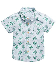 Baby Boys Palm-Print Button-Up Cotton Shirt, Created for Macy's