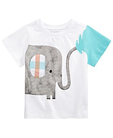 Baby Boys Squirting Elephant Cotton T-Shirt, Created For Macy's
