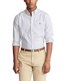 Men's Slim-Fit Checked Shirt