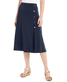 JM Collection Button-Side Skirt, Created For Macy's
