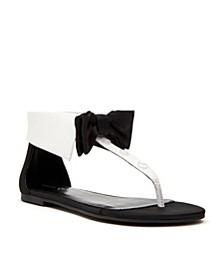 Delle Bow Tie Flat Sandals