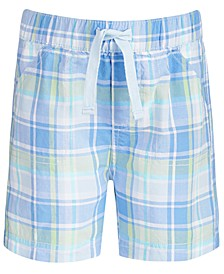 Baby Boys Plaid Cotton Shorts, Created For Macy's