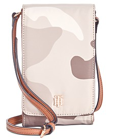 Julia Camo Nylon Phone Crossbody