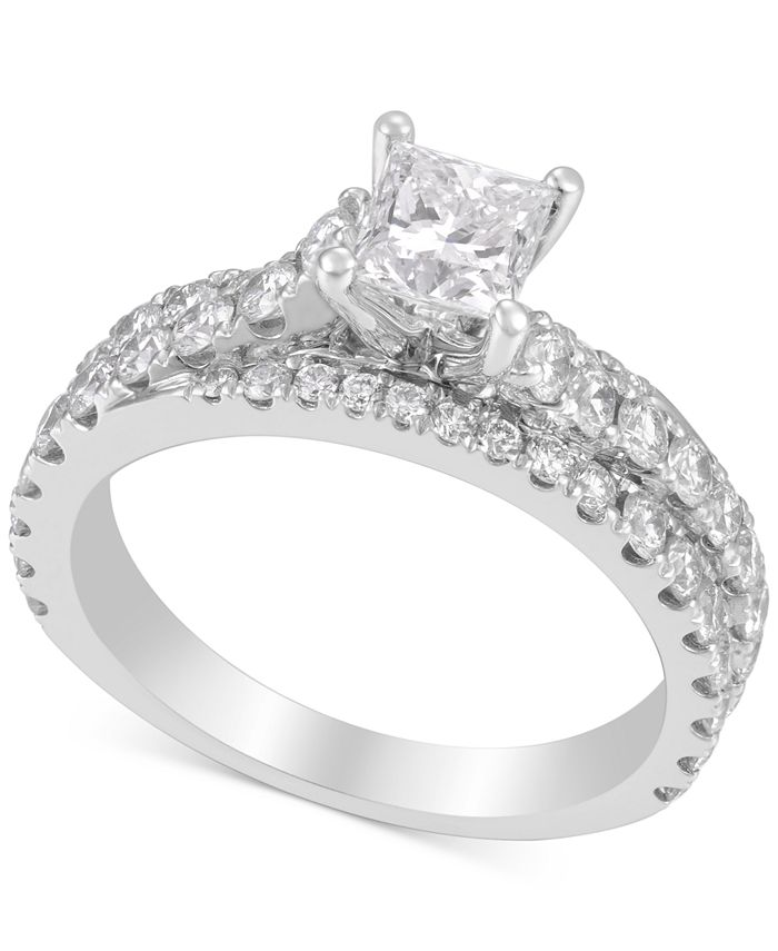 Macy's - Diamond Princess Engagement Ring (2 ct. t.w) in 14k White Gold
