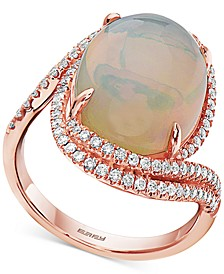 EFFY® Opal (6-5/8 ct. t.w.) & Diamond (3/8 ct. t.w.) Statement Ring in 14k Rose Gold