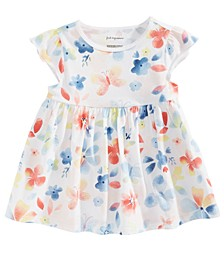 Baby Girls Butterfly-Print Cotton Tunic, Created for Macy's