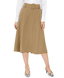 Belted A-Line Skirt, Created for Macy's