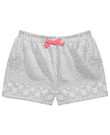 Baby Girls Floral-Border Shorts, Created for Macy's