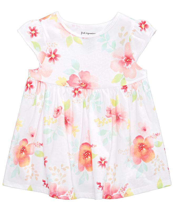 First Impressions Baby Girls Floral-Print Cotton Tunic, Created for Macy's