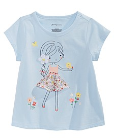 Baby Girls Flower Girl-Print Cotton T-Shirt, Created for Macy's