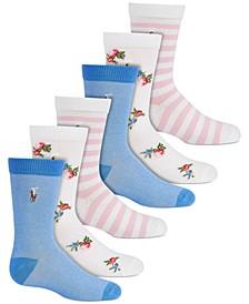 Big Girls 3-Pk Oxford Crew Socks