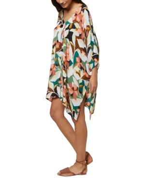 O'neill Juniors' Calla Printed Cover-up Dress, Created For Macy's Women's Swimsuit In Multi