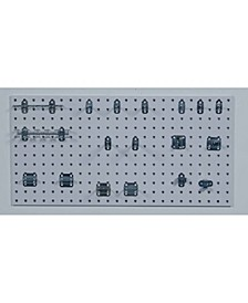Locboard 1 18 Gauge Steel Square Hole Pegboards with 18 Piece Lochook Assortment