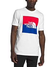 Men's Red White and Blue Boxed Logo T-Shirt