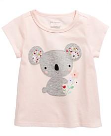 Baby Girls Koala-Print Cotton T-Shirt, Created for Macy's