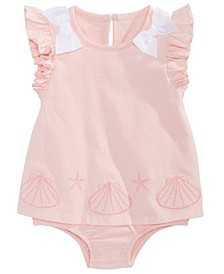 Baby Girls Seashell Bows Sunsuit, Created for Macy's