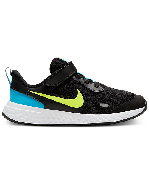 Nike Little Boys Revolution 5 Stay-Put Closure Running Sneakers from Finish Line