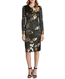 Floral Jacquard Skirt Suit