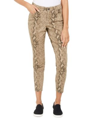 Curvy Tummy-Control Printed Skinny Jeans, Created for Macy's