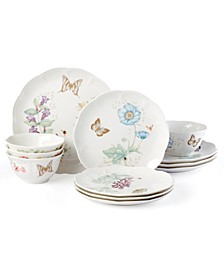 Butterfly Meadow Gold - 20th Anniversary 12-PC Dinnerware, Service for 4, Macy's Exclusive