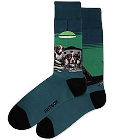 Men's Poker Dog Socks