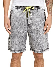 INC Men's Black Drawstring Denim Shorts, Created for Macy's