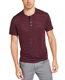 INC Men's Sheer Streaked Henley, Created for Macy's