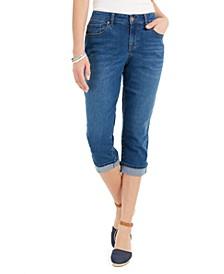 Petite Curvy Cuffed Capri Jeans, Created for Macy's