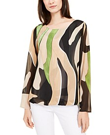 Printed Angel-Sleeve Top, Created For Macy's