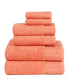 American Dawn Julian Solid 6 Piece Towel Set With Wicen Brick Border